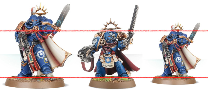 primaris scale and proportions compared with old marines