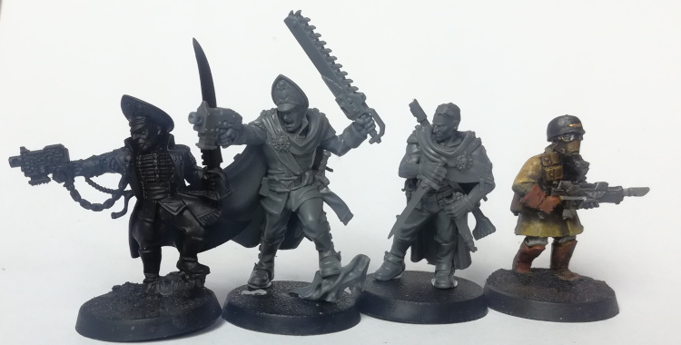 Size Comparison of Ghosts with other Astra Militarum